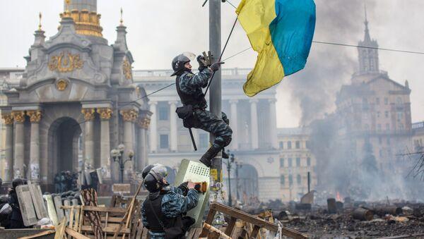 Euromajdan, 2014 rok - Sputnik Polska