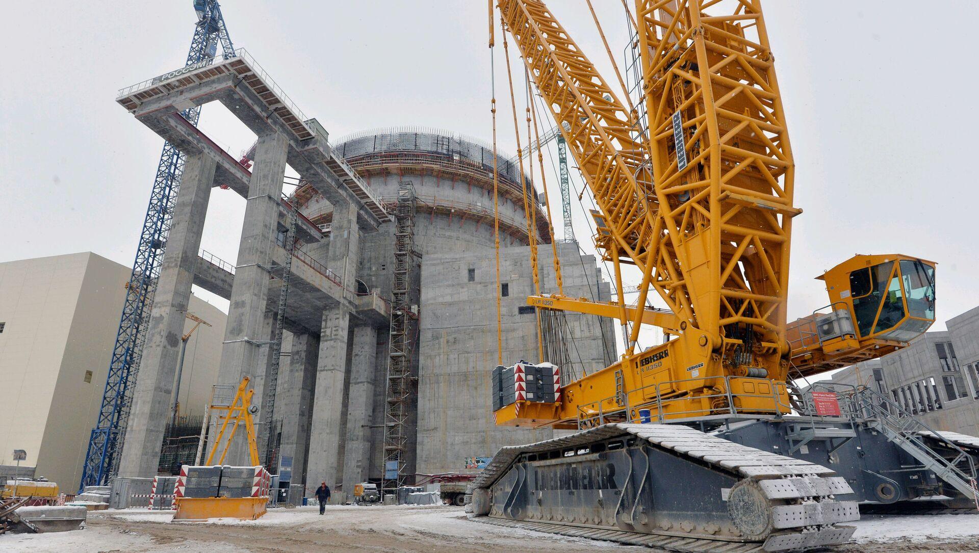 Elektrownia jądrowa typu AES-2006 na Białorusi w trakcie budowy. Zdjęcie archiwalne - Sputnik Polska, 1920, 24.03.2021