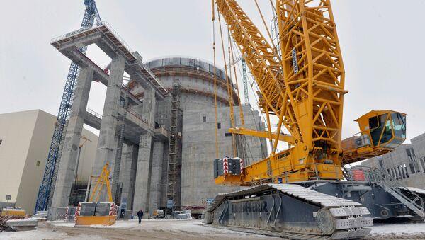 Elektrownia jądrowa typu AES-2006 na Białorusi w trakcie budowy. Zdjęcie archiwalne - Sputnik Polska