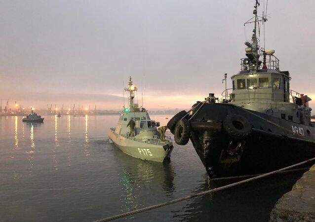 Ukraińskie okręty przekroczyły rosyjską granicę