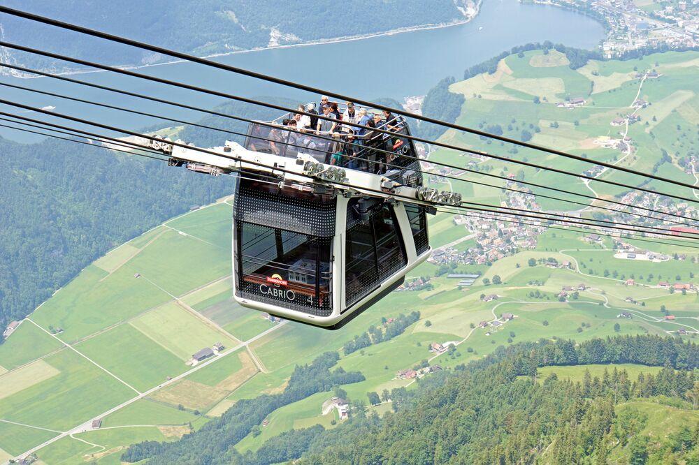Kolejka linowa w Szwajcarii