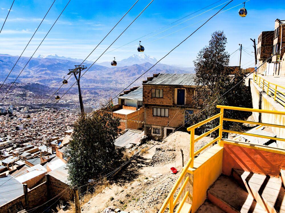 Kolejka linowa w Boliwii