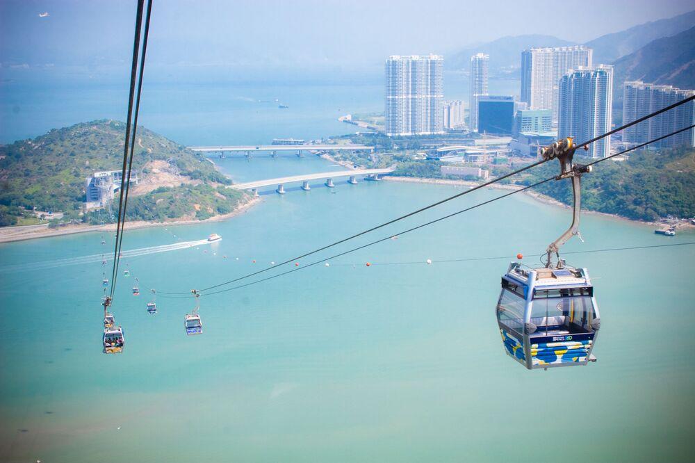Kolejka linowa Ngong Ping 360 w Hongkongu
