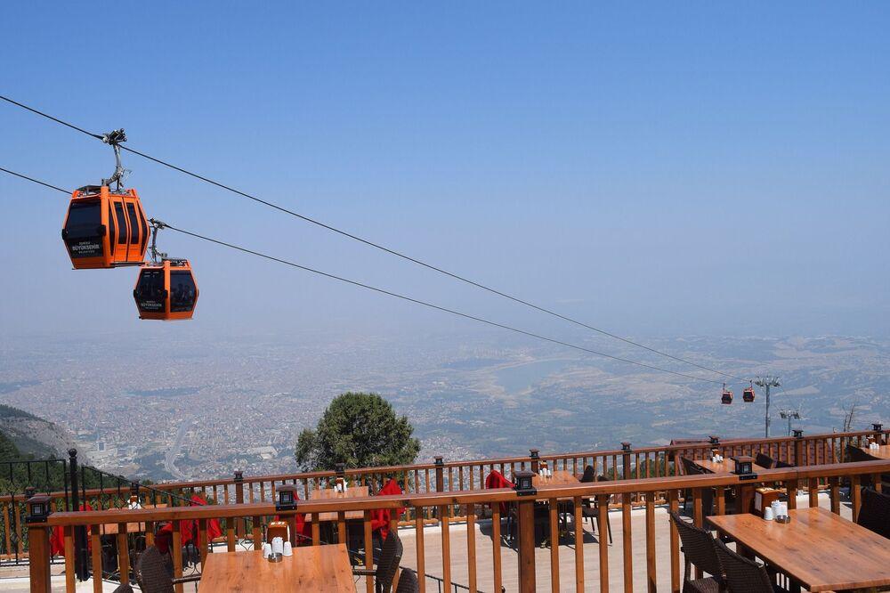 Kolejka linowa w Denizli w Turcji