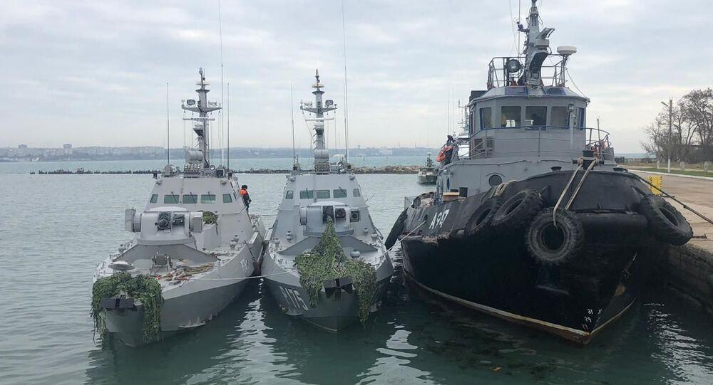 Ukraińskie okręty zatrzymane z powodu naruszenia granic FR
