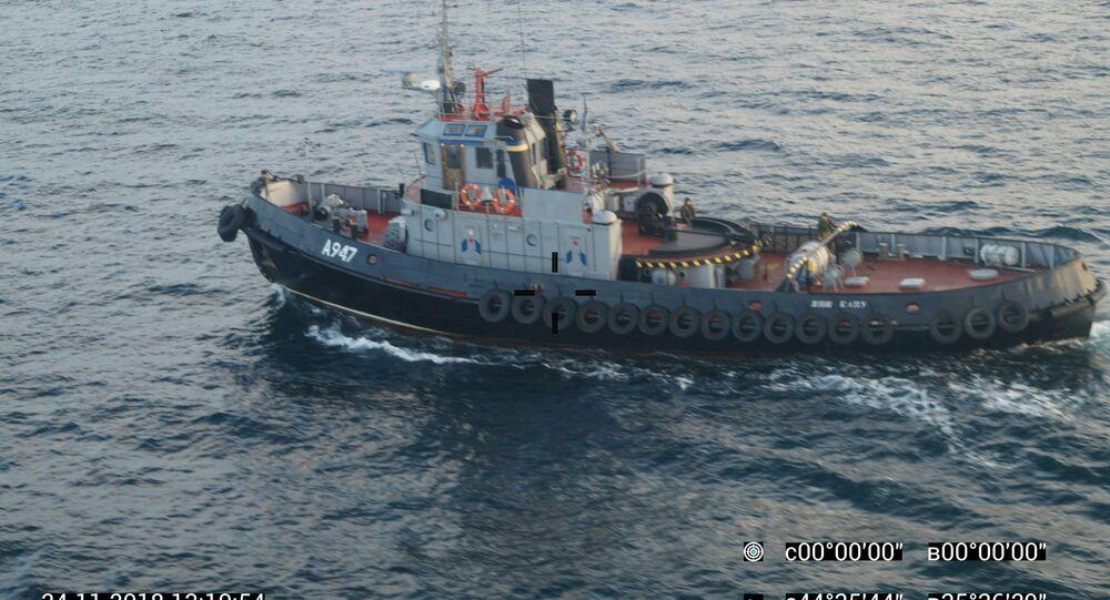 Ukraińskie okręty naruszyły granicę Rosji