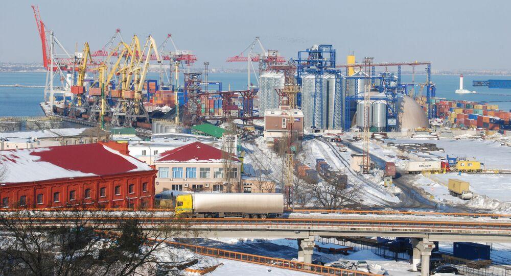 Morski port handlowy w Odessie