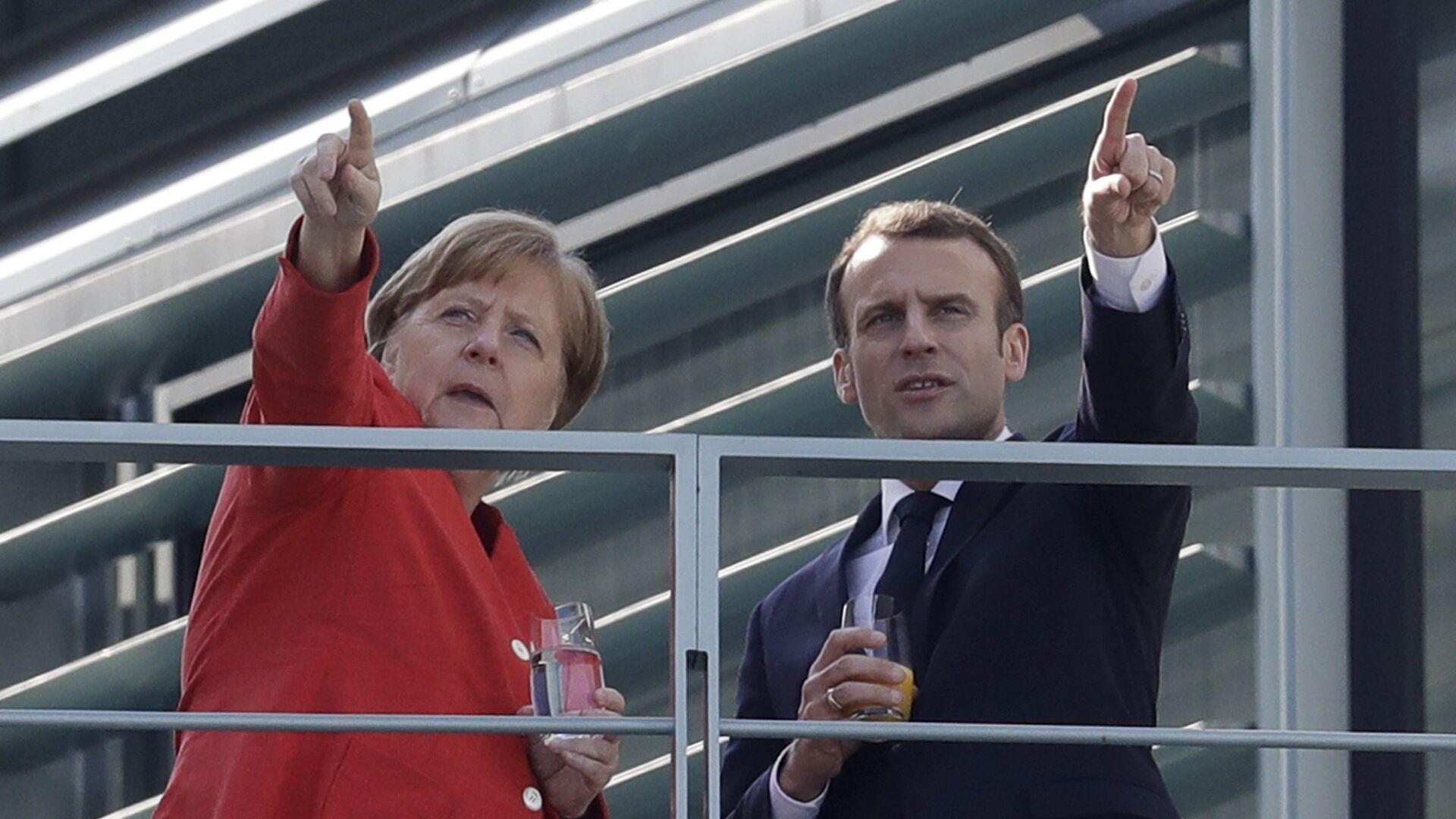 Angela Merkel i Emmanuel Macron w Berlinie, 2018 rok  - Sputnik Polska, 1920, 18.06.2021