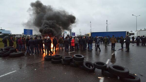 Protesty na granicy polsko-ukraińskiej - Sputnik Polska