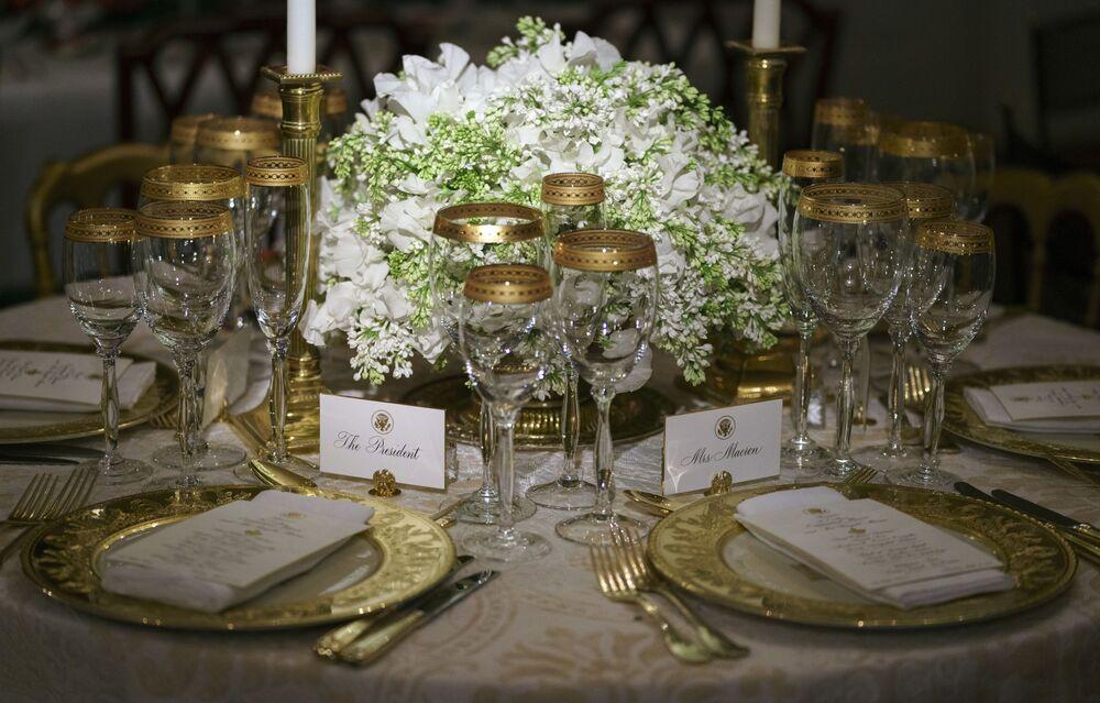 Nakrycie stołu w Białym Domu