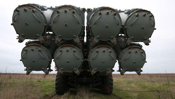 Rakietowy system obrony wybrzeża Bał na poligonie Żelezny Rog na czarnomorskim wybrzeżu w Kraju Krasnodarskim - Sputnik Polska