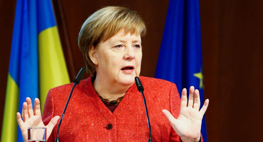Kanclerz RFN Angela Merkal na otwarciu trzeciego Niemiecko-Ukraińskiego Forum w Berlinie