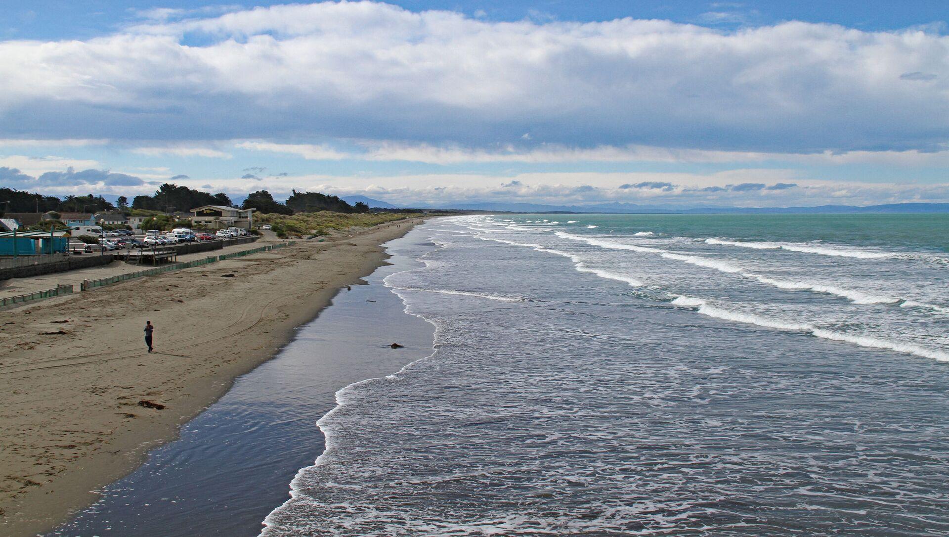 Plaża na przedmieściach Christchurch, Nowa Zelandia - Sputnik Polska, 1920, 04.03.2021