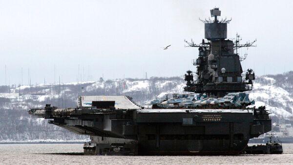 Ciężki krążownik lotniczy Admirał Fłota Sowietskogo Sojuza Kuzniecow - Sputnik Polska