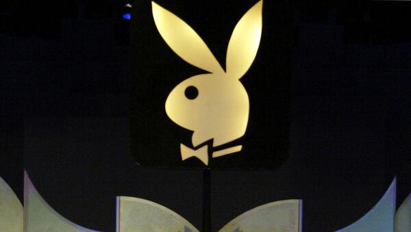 Logo Playboya w Los Angeles. Zdjęcie archiwalne - Sputnik Polska
