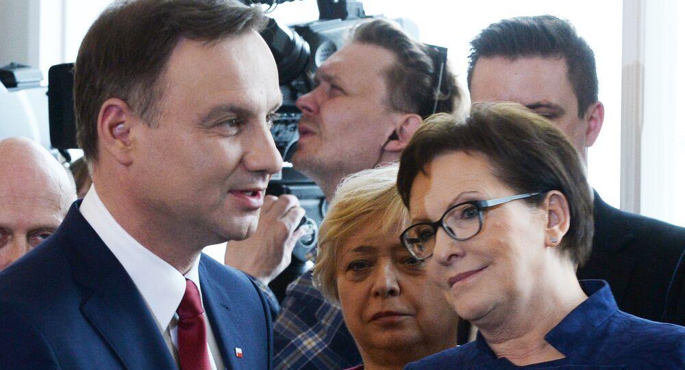 Prezydent Polski Andrzej Duda i premier Ewa Kopacz