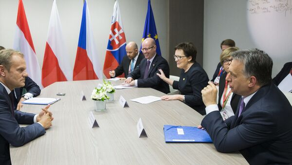 Spotkanie Grupy Wyszechradzkiej przed szczytem w UE w Brukseli - Sputnik Polska