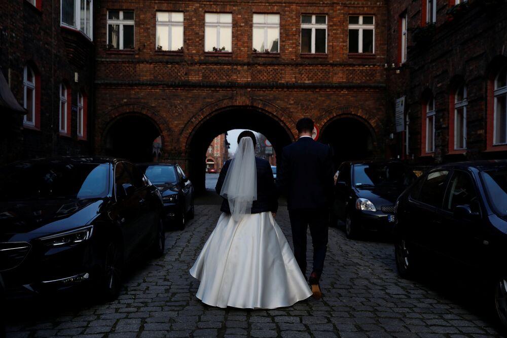 Nowożeńcy w Katowicach