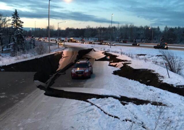 Silne trzęsienie ziemi na Alasce