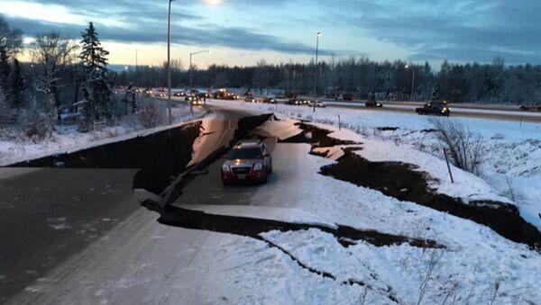 Silne trzęsienie ziemi na Alasce - Sputnik Polska