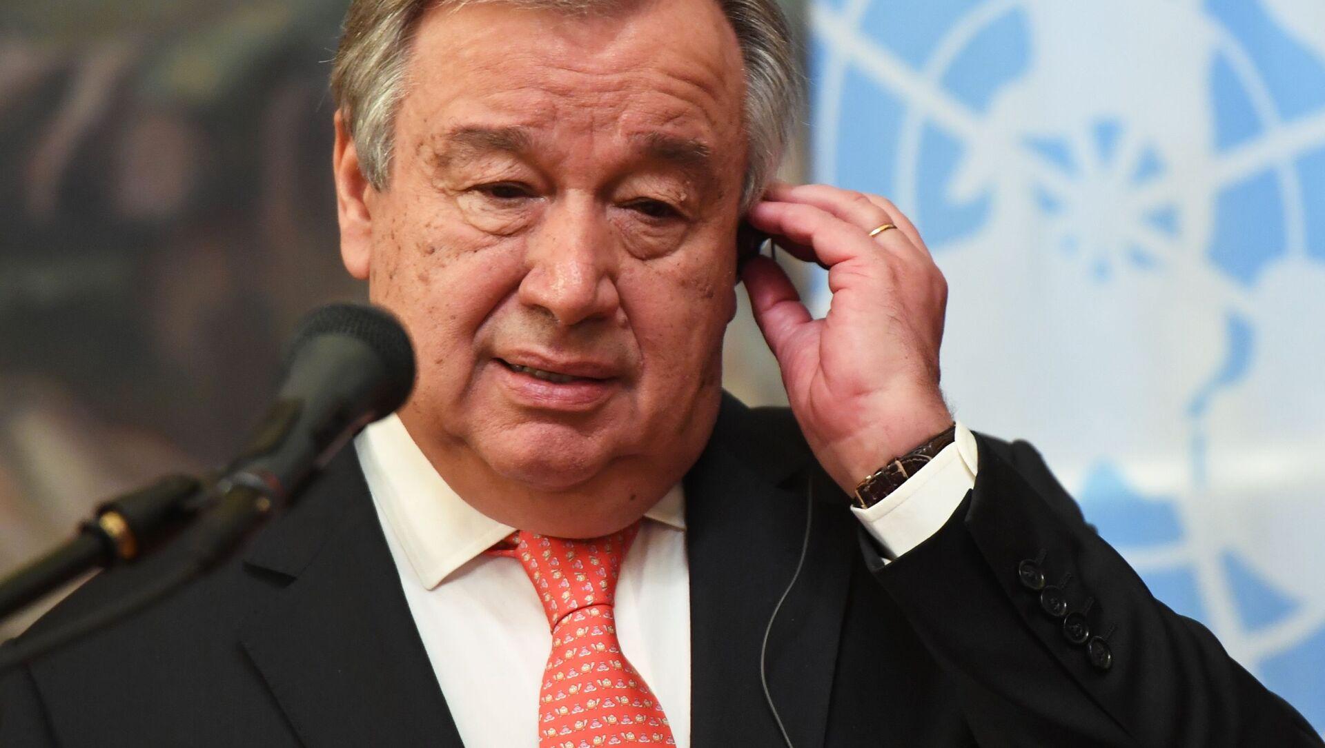 Sekretarz Generalny ONZ Antonio Guterres - Sputnik Polska, 1920, 18.06.2021