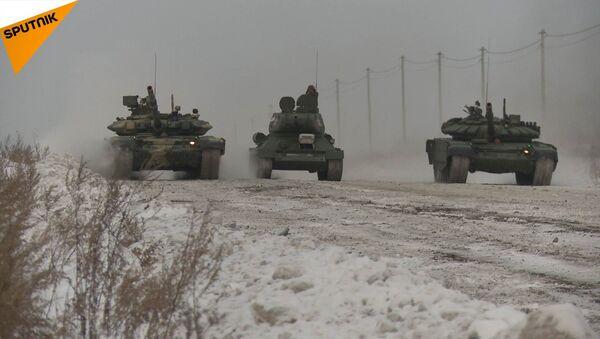 Wyścig czołgów przy -20ºC - Sputnik Polska