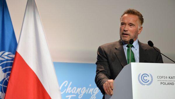 Amerykański kulturysta, przedsiębiorca i aktor Arnold Schwarzenegger na 24 konferencji ONZ ws. zmian klimatu (COP24) w Katowicach - Sputnik Polska