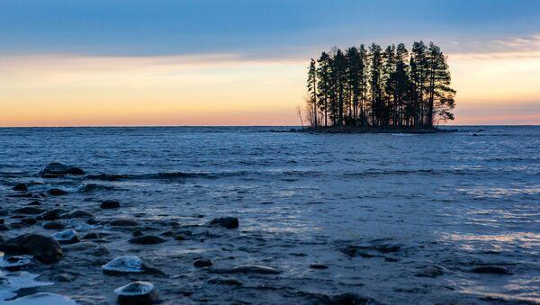 Wyspa na jeziorze Onega w Republice Karelii - Sputnik Polska