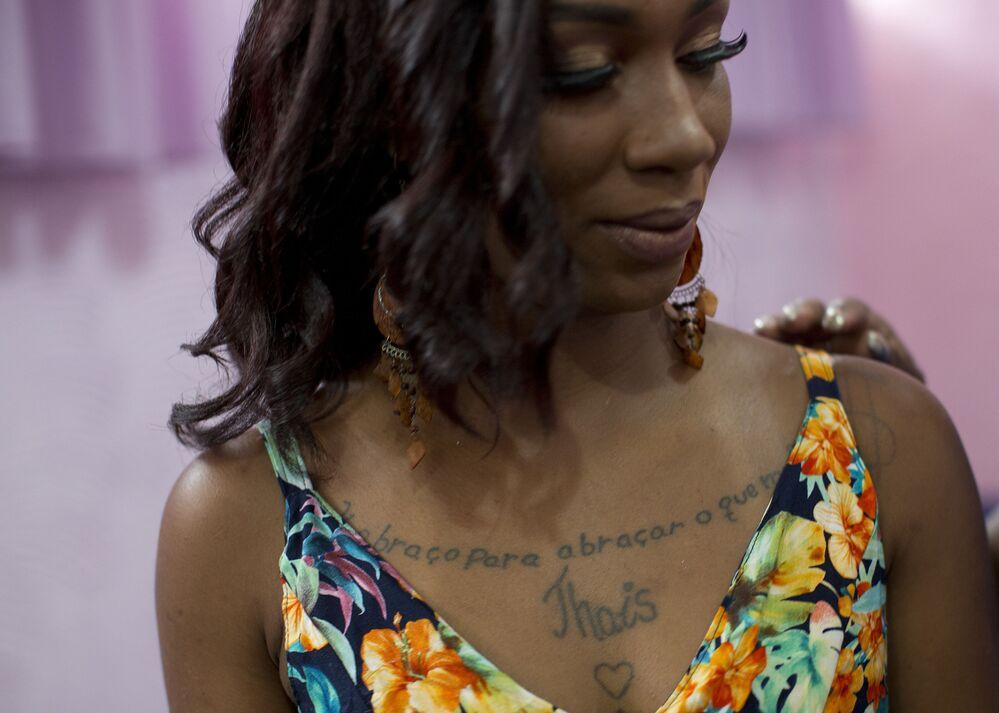 Uczestniczka więziennego konkursu piękności Miss Talavera Bruce w Rio de Janeiro