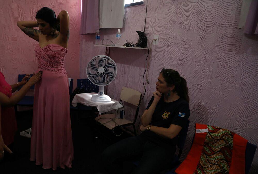 Uczestniczki więziennego konkursu piękności Miss Talavera Bruce w Rio de Janeiro