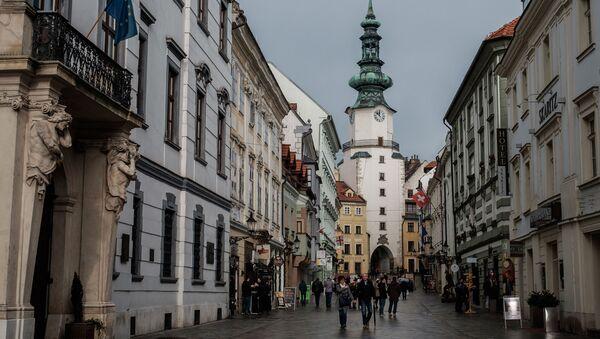 Bratysławska ulica, Słowacja - Sputnik Polska