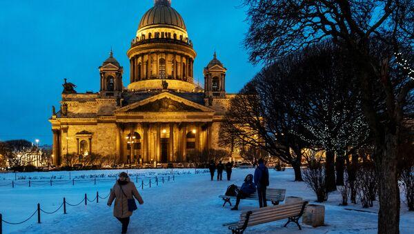 Sobór świętego Izaaka Dalmatyńskiego – największa prawosławna świątynia w Petersburgu - Sputnik Polska
