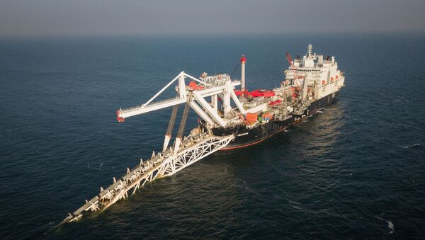 Statek Audacia firmy Allseas podczas układania rur na niemieckim odcinku gazociągu Nord Stream 2 - Sputnik Polska