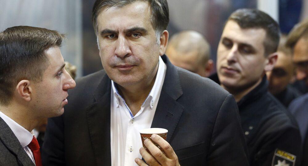 Były gubernator obwodu odeskiego Ukrainy i lider partii politycznej Ruch Nowych Sił Micheila Saakasziwili. Zdjęcie archiwalne