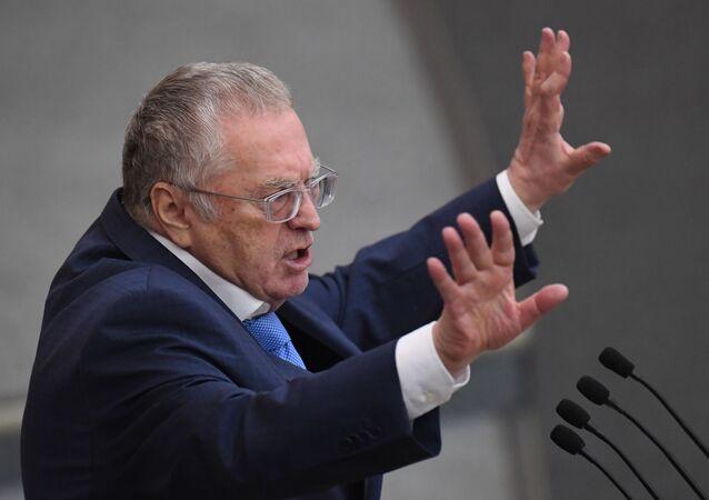 Władimir Żyrinowski na plenarnym posiedzenu Dumy Państwowej Rosji