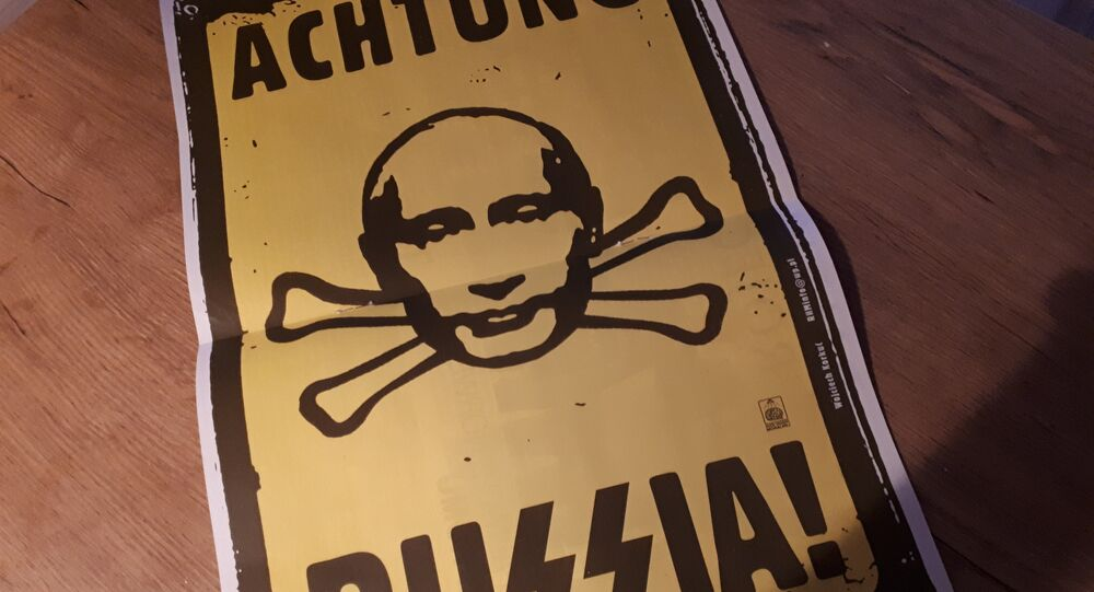 Plakat Achtung Russia