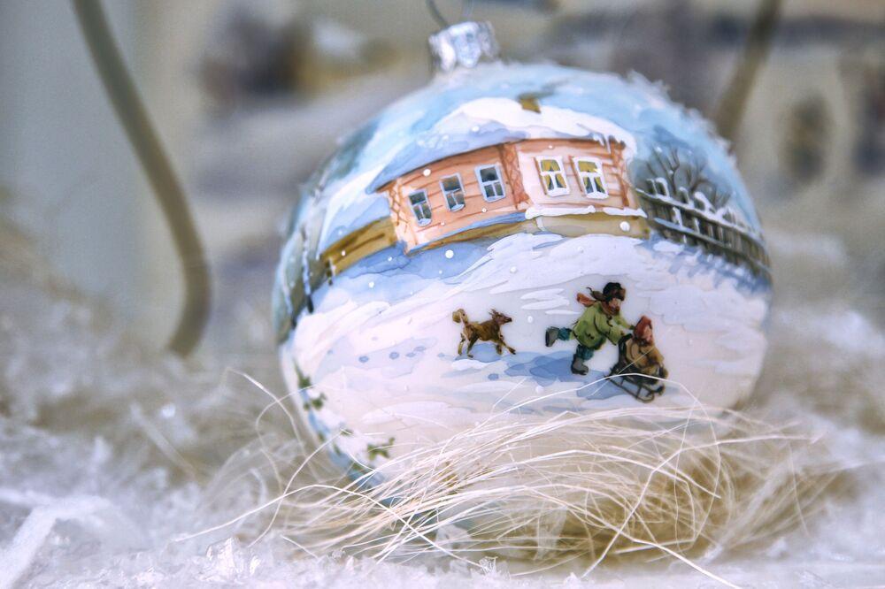 Ekspozycja muzeum w fabryce ozdób świątecznych Ariel w Niżnym Nowogrodzie