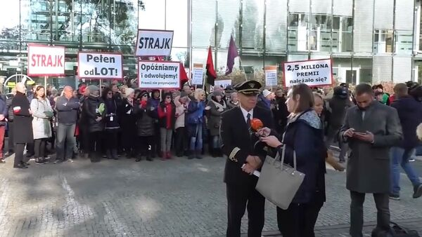Strajk w LOT - Sputnik Polska