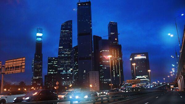 Drapacze chmur centrum biznesowego Moscow City - Sputnik Polska