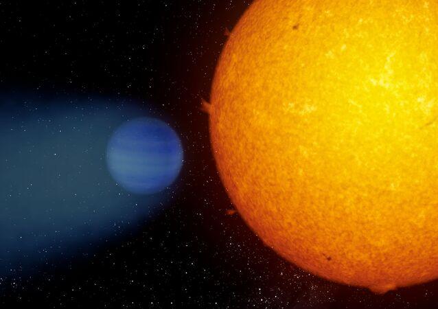 Planeta z chmurą helową WASP-69b