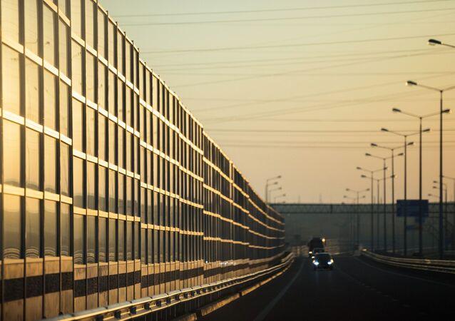 Samochody na Moście Krymskim