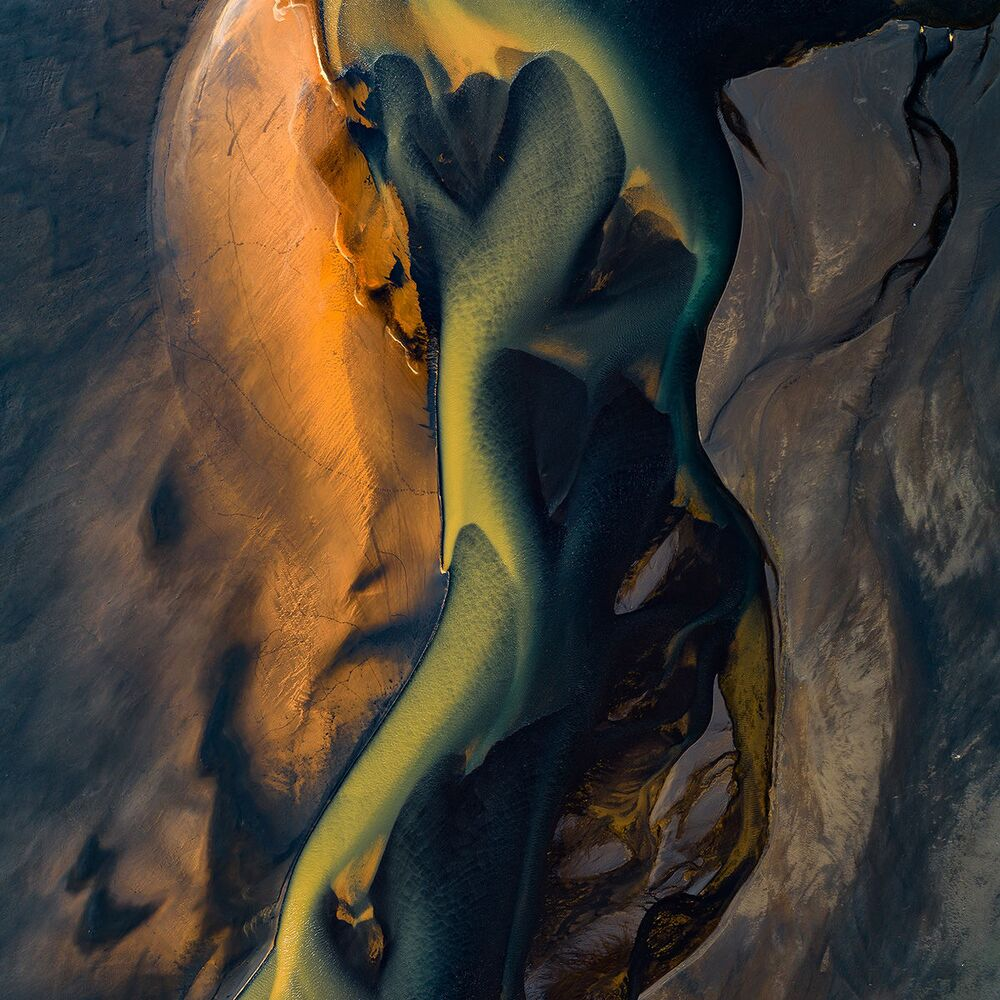 Ujście rzeki Affall w Islandii