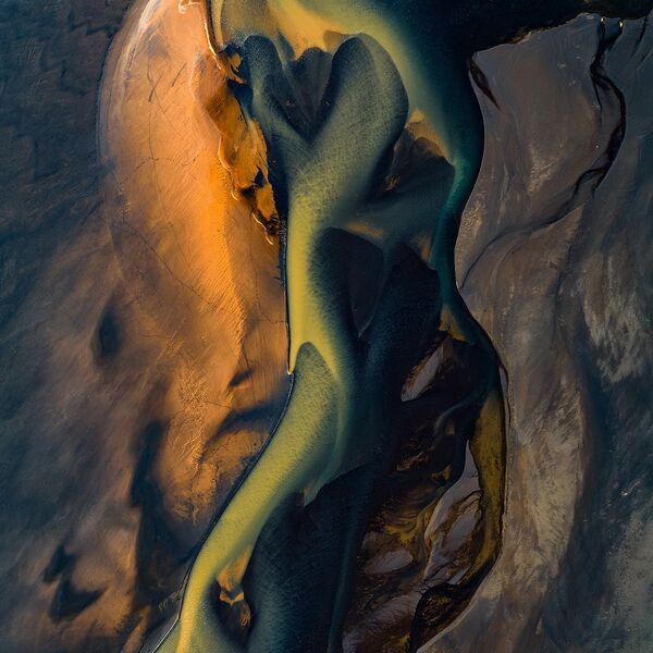 Ujście rzeki Affall w Islandii - Sputnik Polska