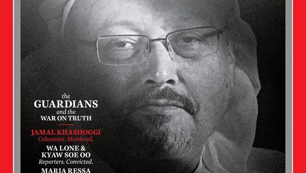 Okładka czasopisma TIME z zamordowanym saudyjskim dziennikarzem Dżamalem Chaszodżdżim - Sputnik Polska