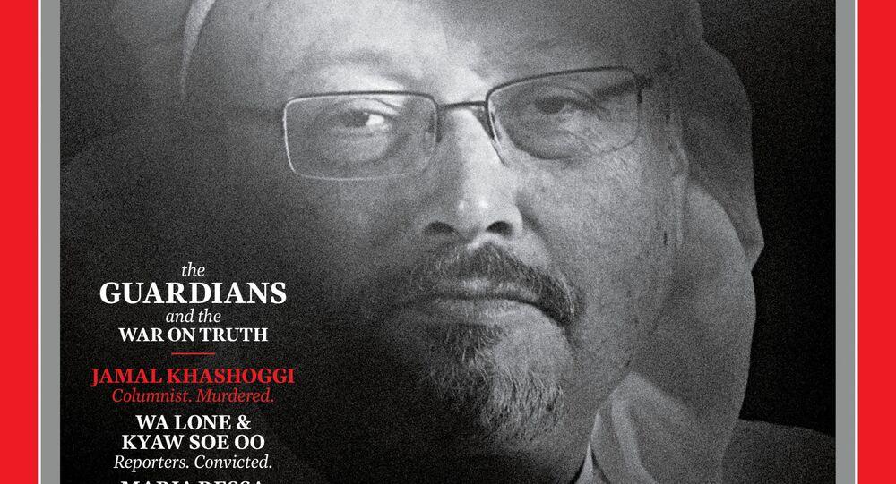 Okładka czasopisma TIME z zamordowanym saudyjskim dziennikarzem Dżamalem Chaszodżdżim