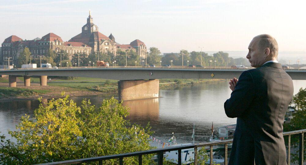 Władimir Putin w Dreźnie
