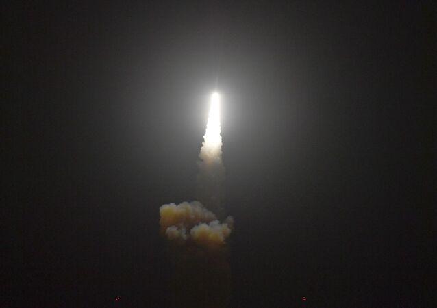 Wystrzał amerykańskiej antyrakiety Standard Missile-3 Block IIA