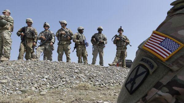 Amerykańscy żołnierze na ćwiczeniach. Zdjęcie archiwalne - Sputnik Polska