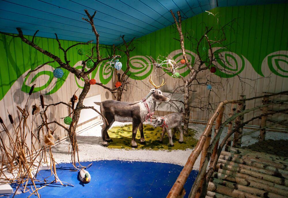 Izba Śnieżynki na terytorium rezydencji karelskiego Dziadka Mroza