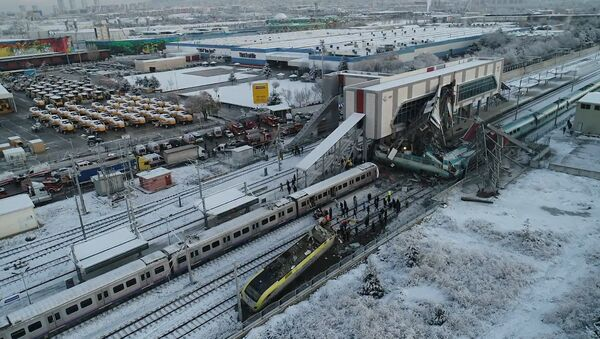 Katastrofa kolejowa w Ankarze - Sputnik Polska